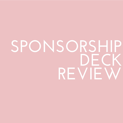 Sponsorship Deck Audit