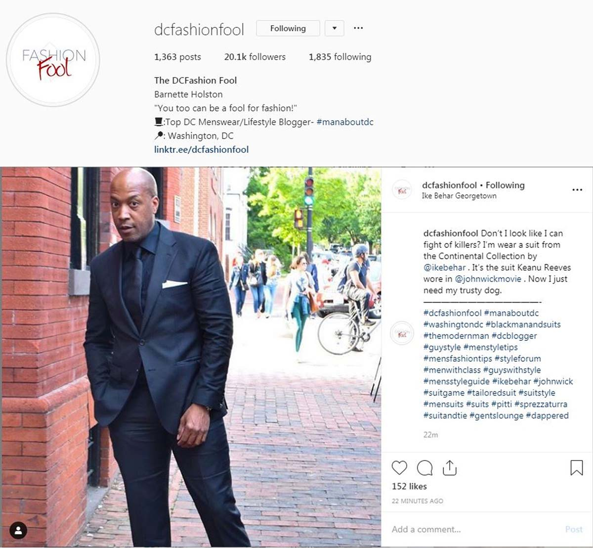 DCFashionFool Instagram - May 17 - Ike B
