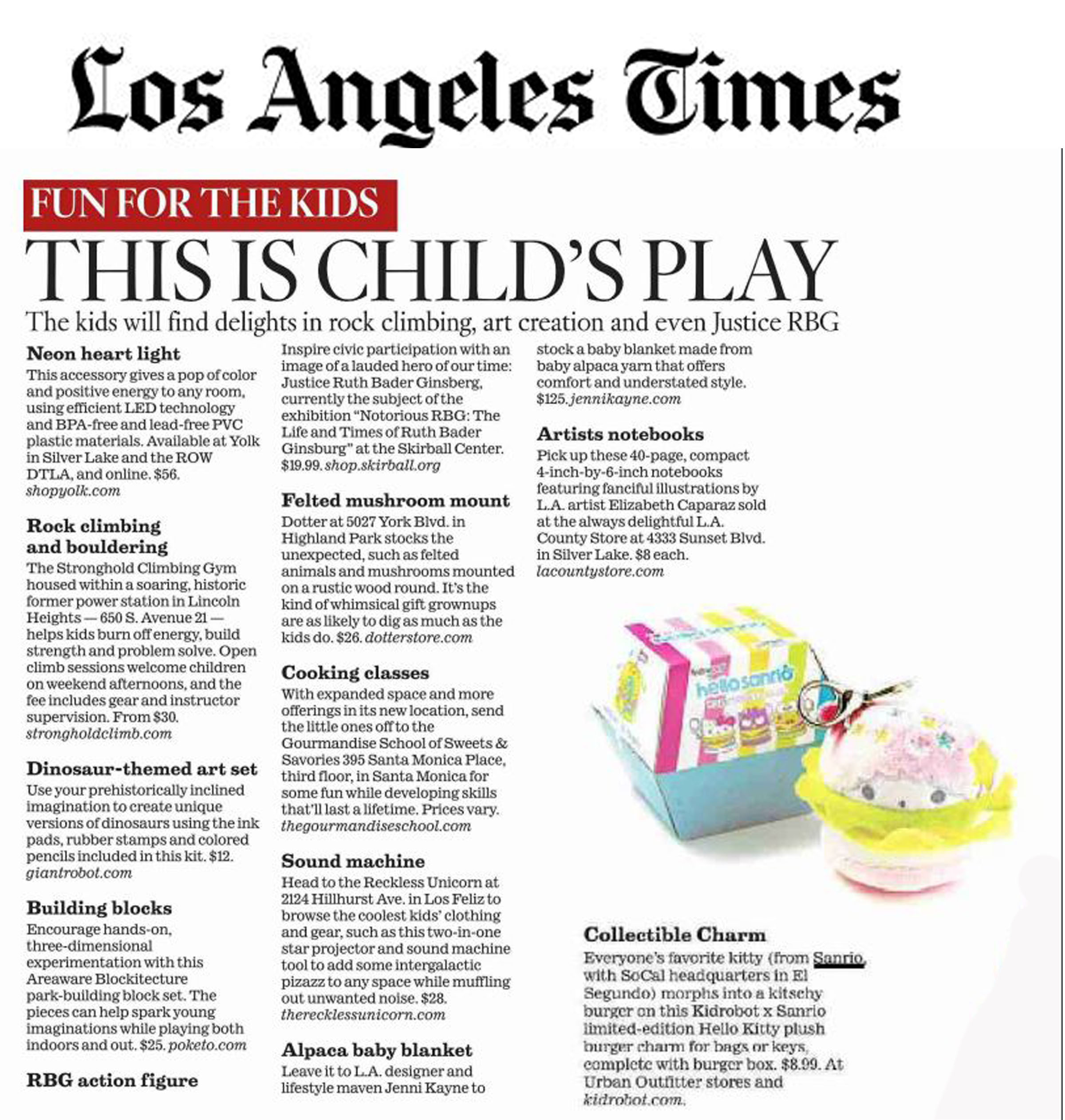 Los Angeles Times - November 4 - Kidrobo