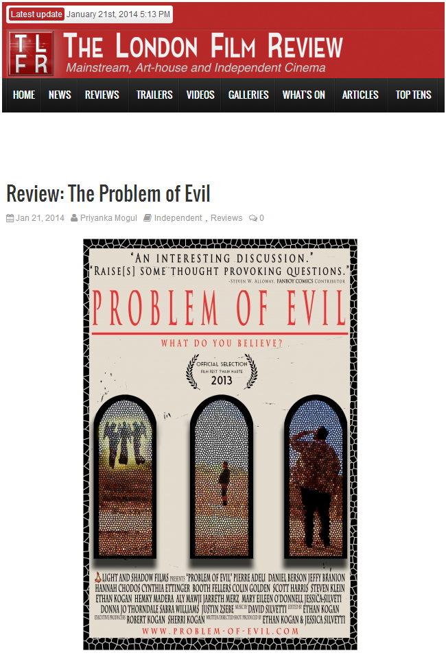 London Film Review - Problem of Evil