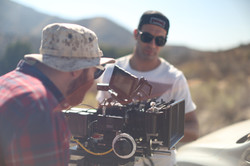 Dennis Z and crew on set