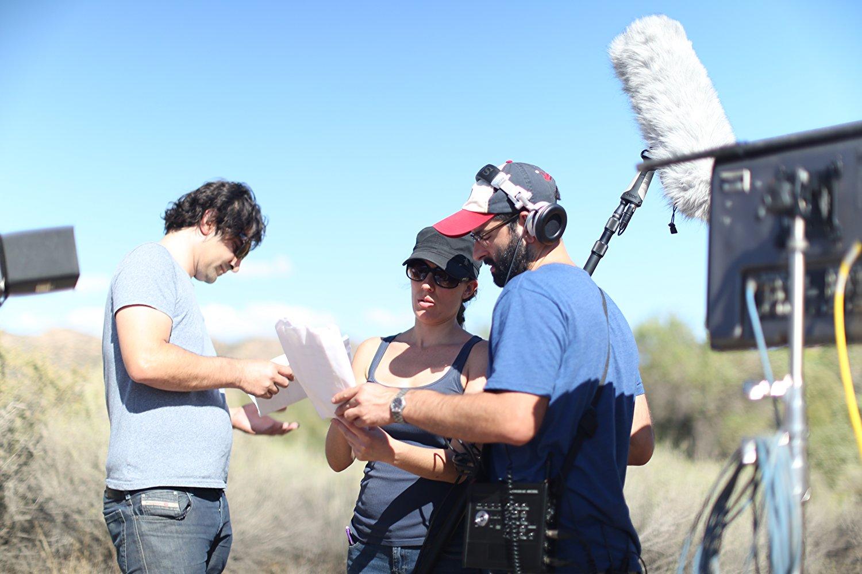 Jessica S and Ethan K w/ EMK on set