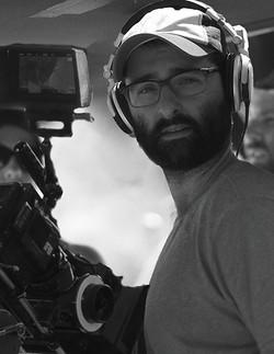 Ethan Kogan on set