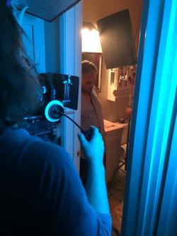 Efrain Figueroa on set