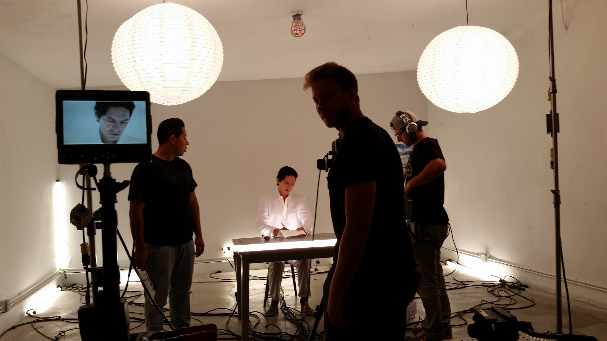 """Crew on the set of """"Conscious"""""""