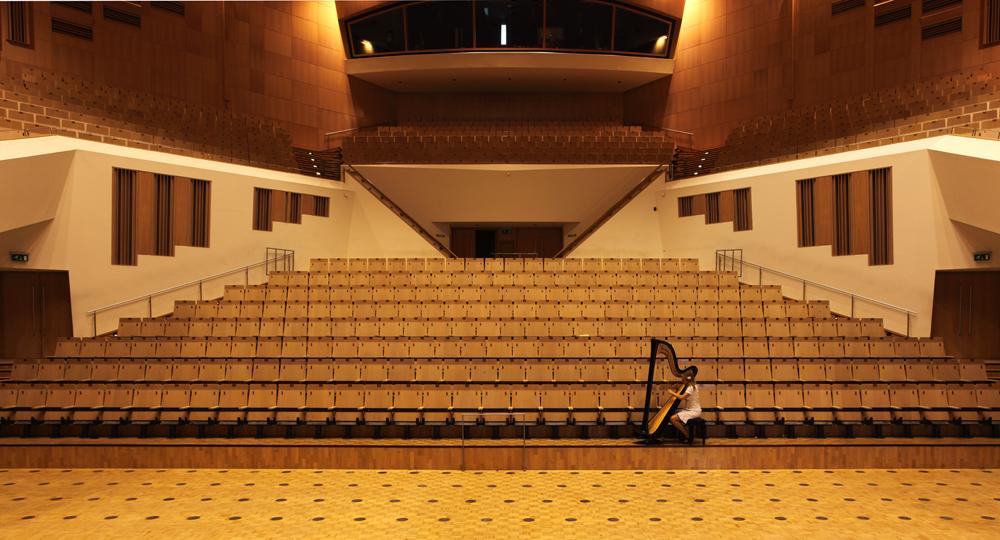'Landschap vol verwachting' (harp) voor muziekgebouw Eindhoven
