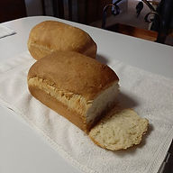 Oversized loaves of buttermilk bread.  Y