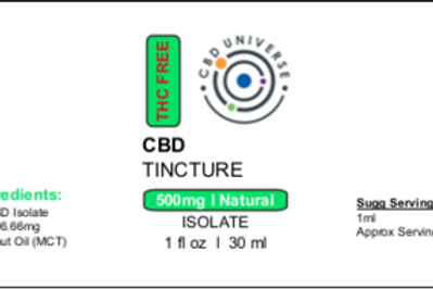 CBD Isolate Tincture | Natural