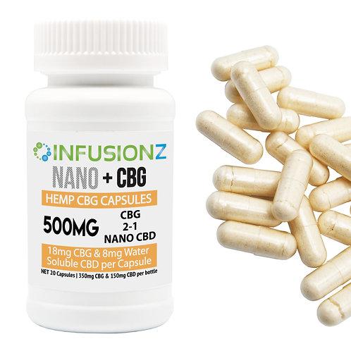 CBG Capsules – 500mg Total Cannabinoids