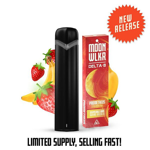 MoonWlkr Delta-8 THC Disposable Vape - Strawnana