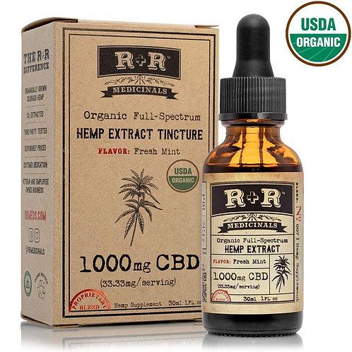 R & R Full-Spectrum CBD Tincture (Fresh Mint)