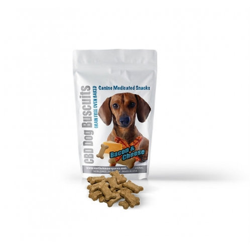 Oven Baked CBD Dog Biscuts - Bacon & Cheese