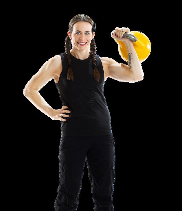 Vegan fitness coach Karina Inkster