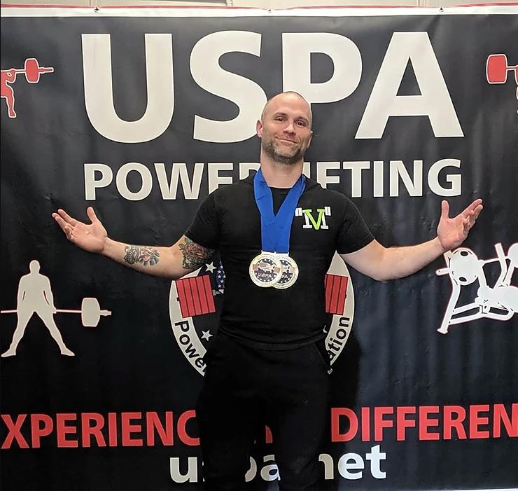 Competitive vegan powerlifter Daniel Austin