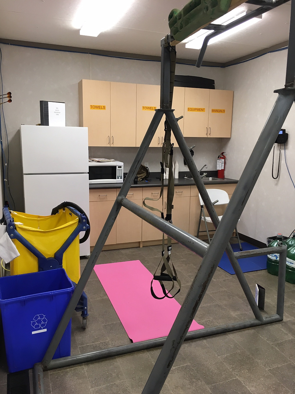 Home gym in a compact space