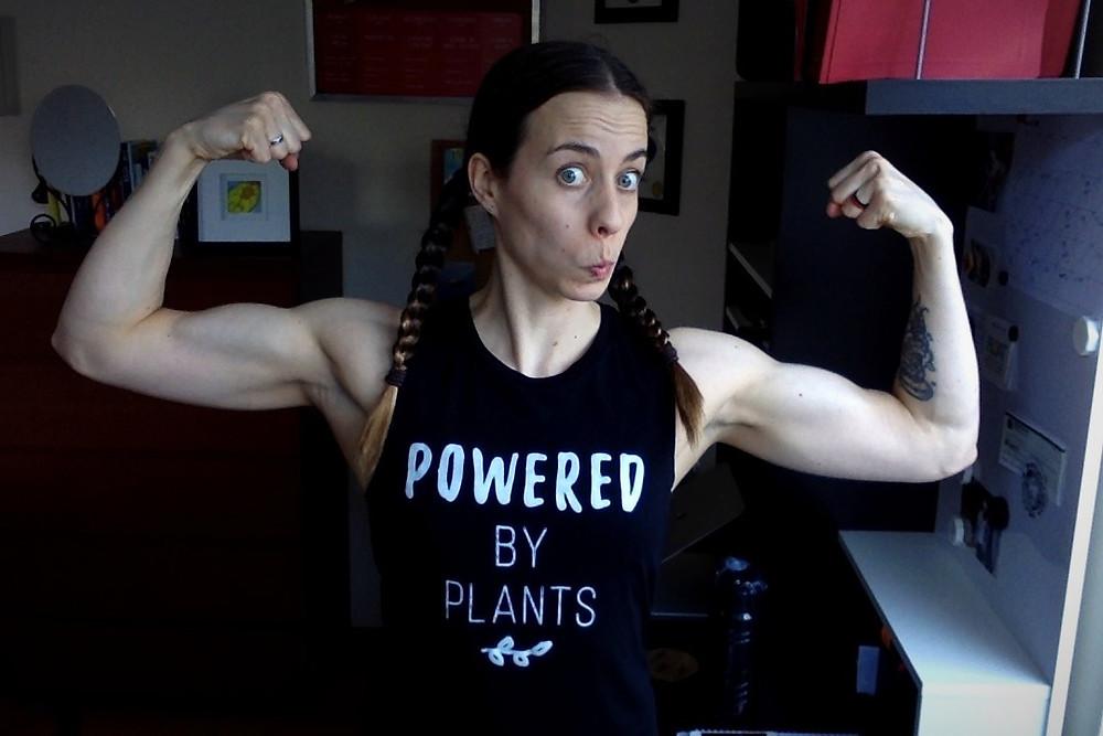 Vegan fitness and nutrition coach Karina Inkster