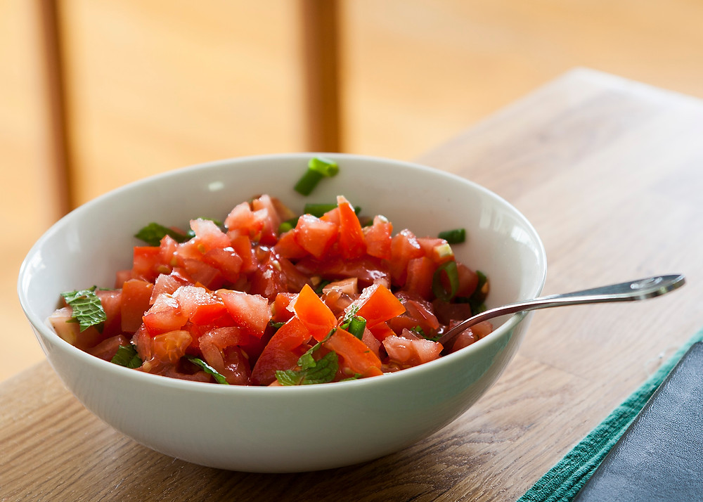 Tomato mint salsa recipe