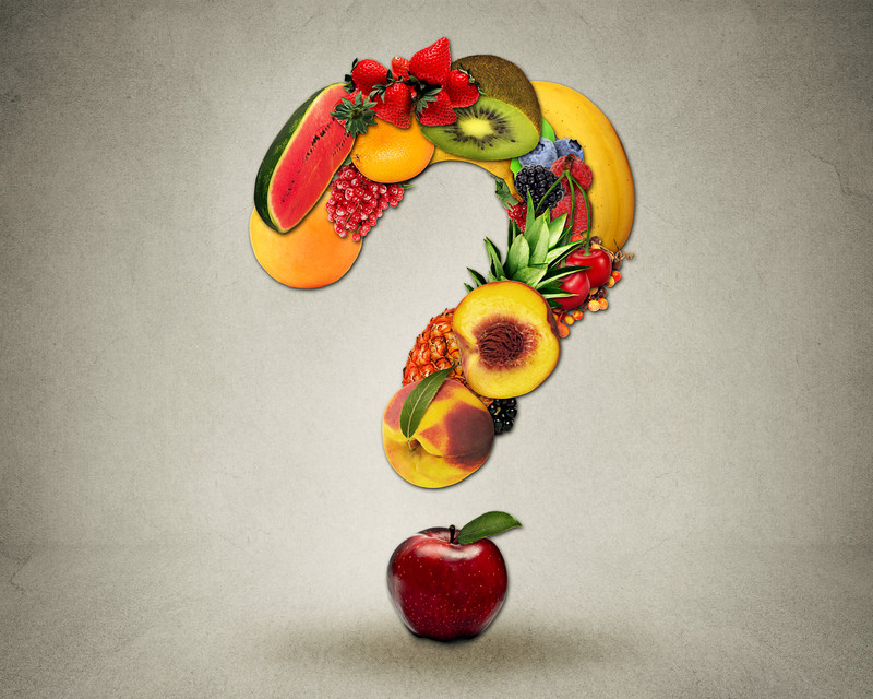 Fruit question mark