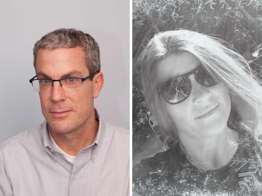 Jeffrey Cohan, executive director of Jewish Veg, and Maria Czesznak, registered nurse