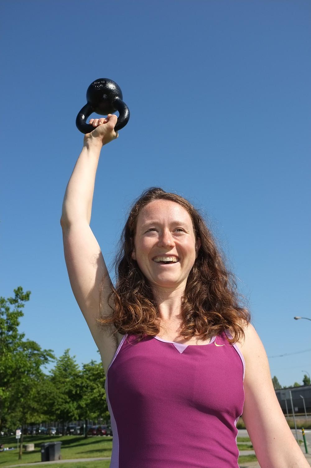Katherine Oblock, vegan fitness client