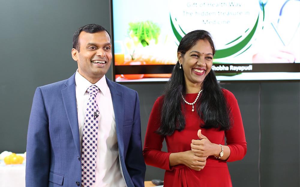 Drs. Arjun and Shobha Rayapudi, co-founders of Gift of Health