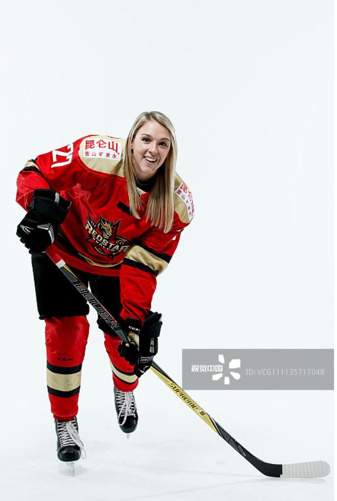 Vegan pro hockey player Shiann Darkangelo