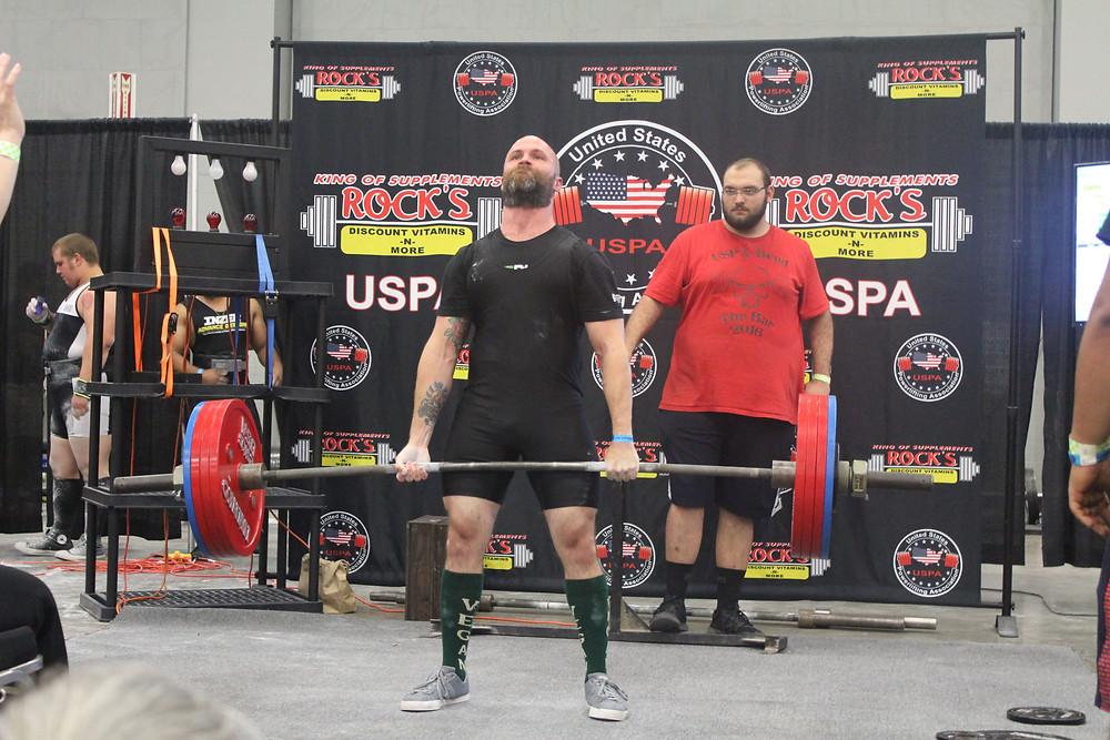 Vegan powerlifting competitor Daniel Austin