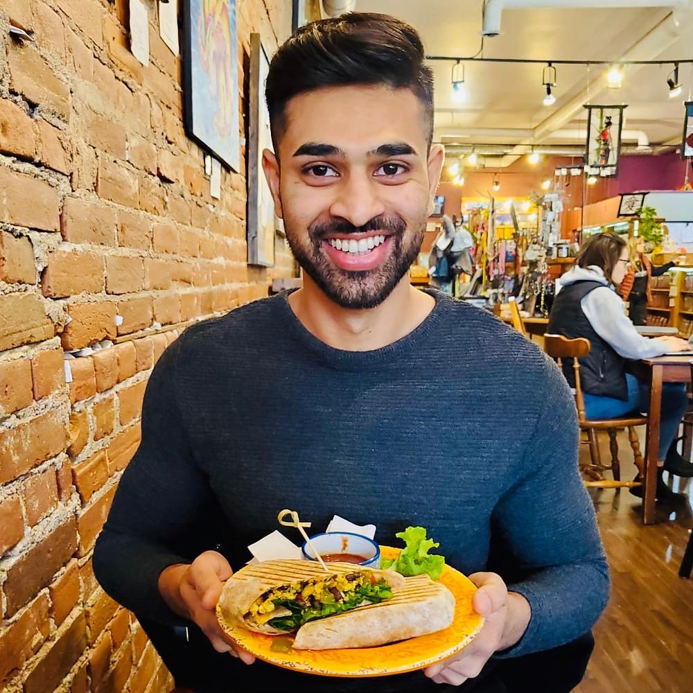 Vegan med student Muzammil Ahmad