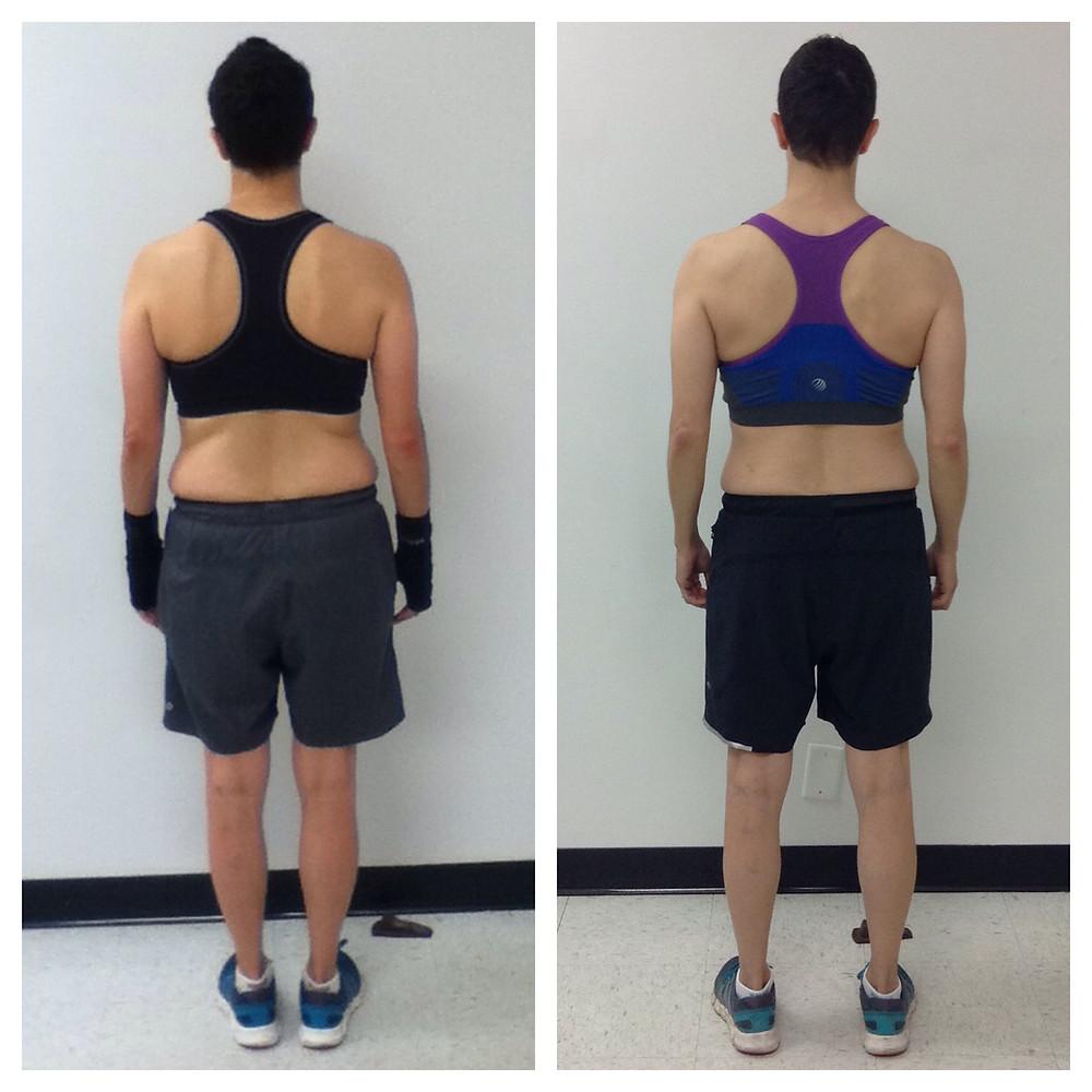 Carmen, vegan fitness training progress