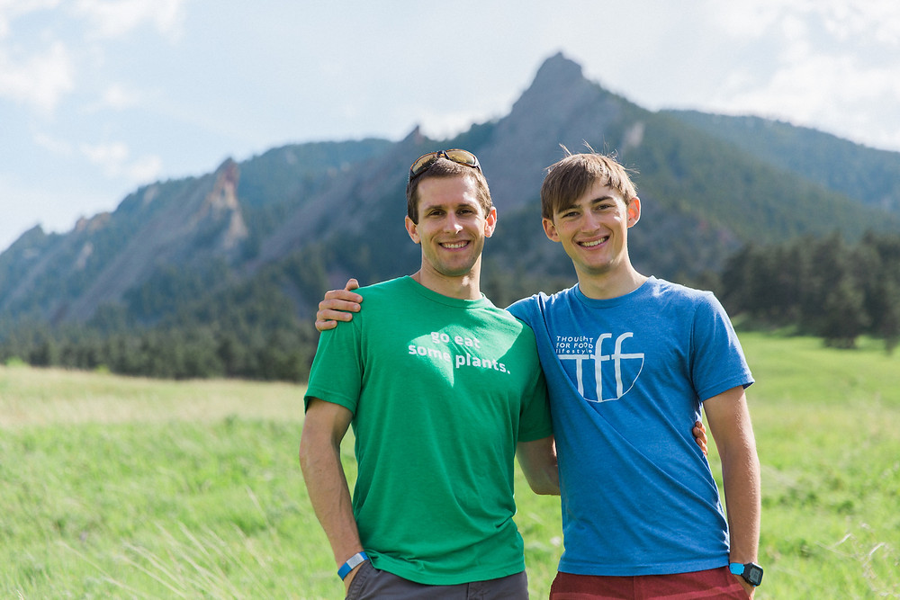 Vegan athletes Jackson Long and Aaron Stuber