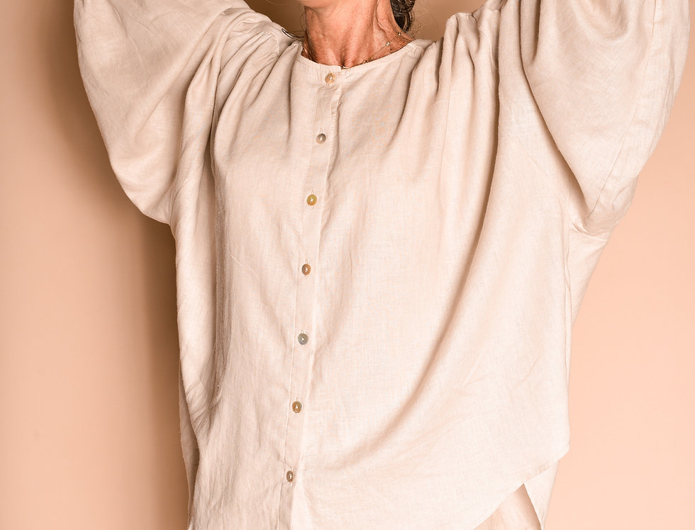 Camisa Bata Franzida