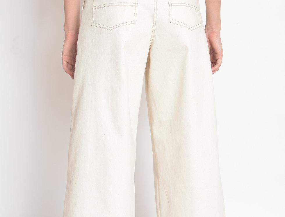 Calça Pantacourt Cotton Cru