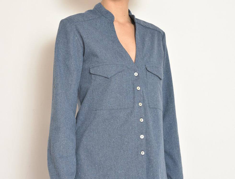 Camisa Bolsos Jeans