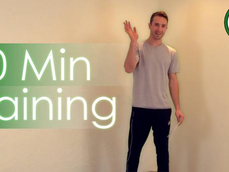 20 Min Workout - Aufwärmen, Dehnung und Kraft