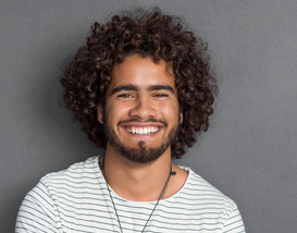 Man with Curly Hair
