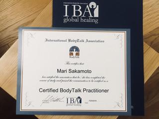 「Body Talk」の施術を始めました。