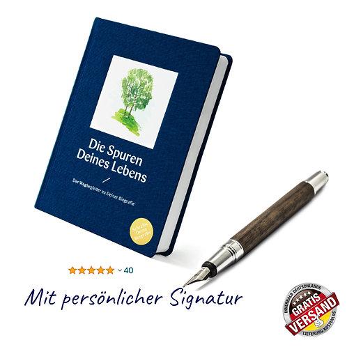Die Spuren Deines Lebens (royalblau) | Mit persönlicher Signatur