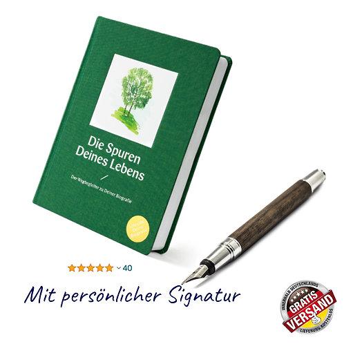 Die Spuren Deines Lebens (lindengrün)   Mit persönlicher Signatur