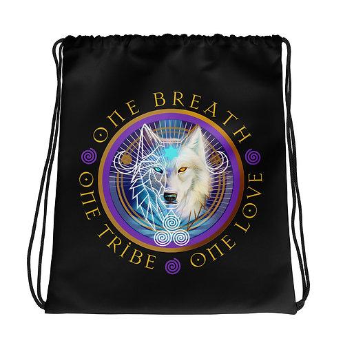 Drawstring Bag - Raven/Wolf - VR