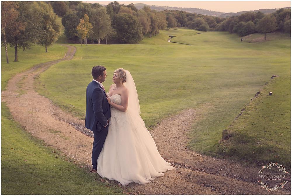 wedding photo at Stamford Golf club