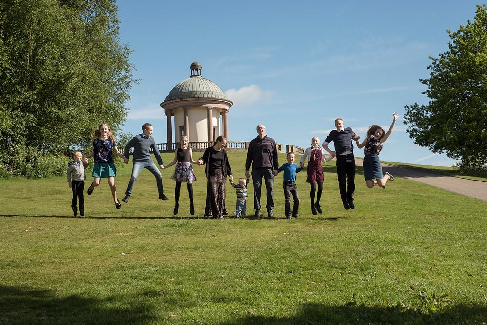 family photography at Heaton Park