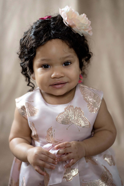 Portrait baby girl in Manchester studio