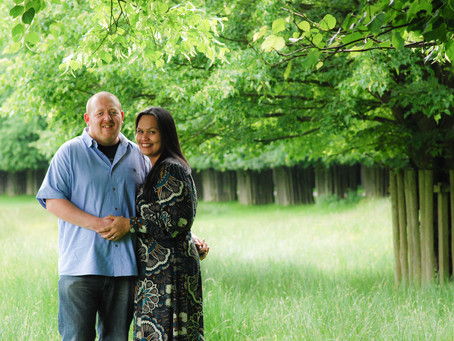 Mona & Adam engagement photography at Dunham Massey