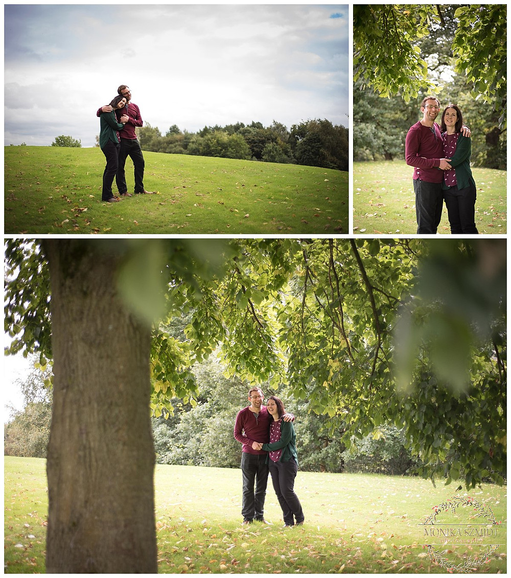 engagement session at Heaton Park, Manchester