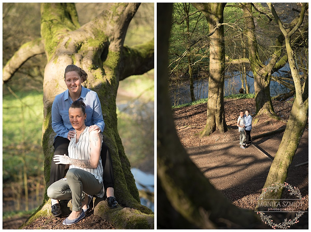 Pre-wedding photography at Daisy Nook, Manchester