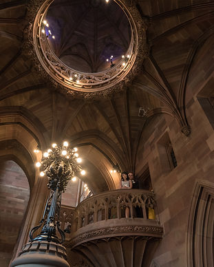 Wedding photos at Rylands Library Manche