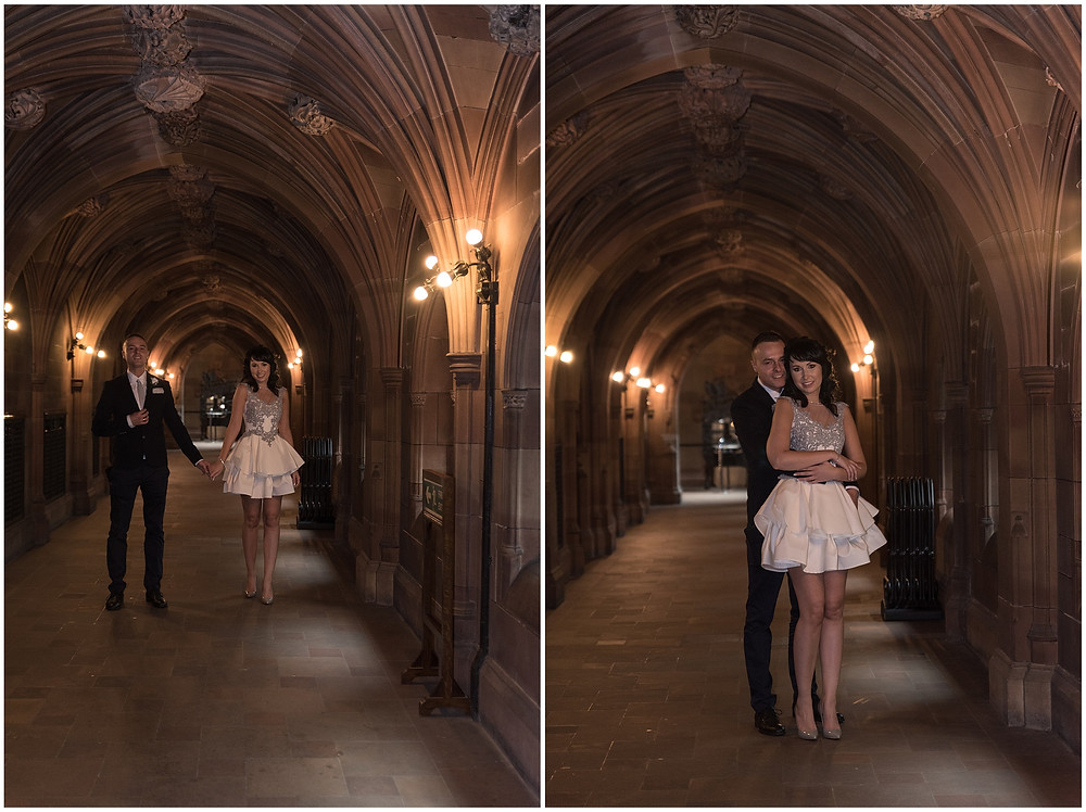 Photo session in Rylands Library in Manchester