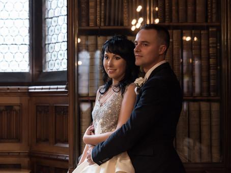 Ilona & Slawek wedding photo shoot at The Rylands Library