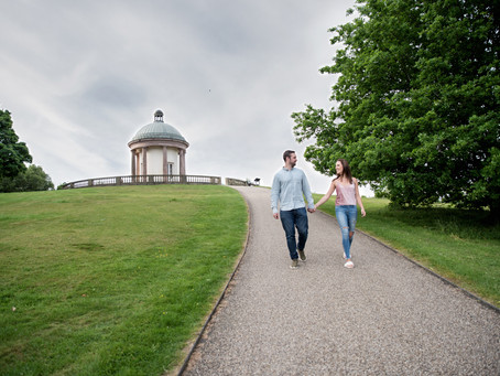 Laura & Adam: Pre-wedding shoot at Heaton Park in Manchester
