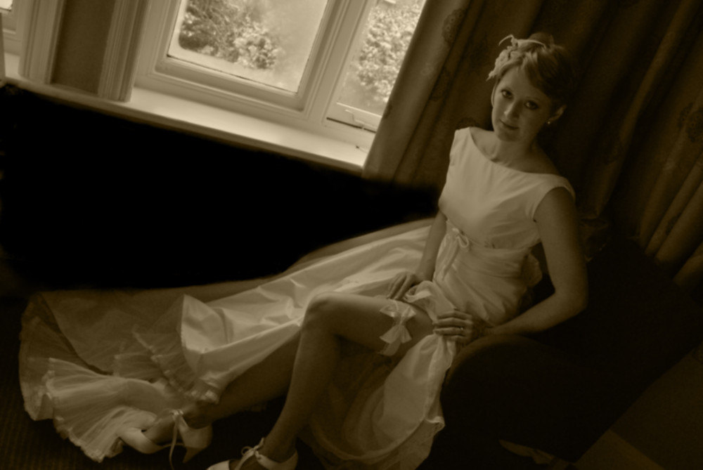 Wedding in Harrogate, bride portrait